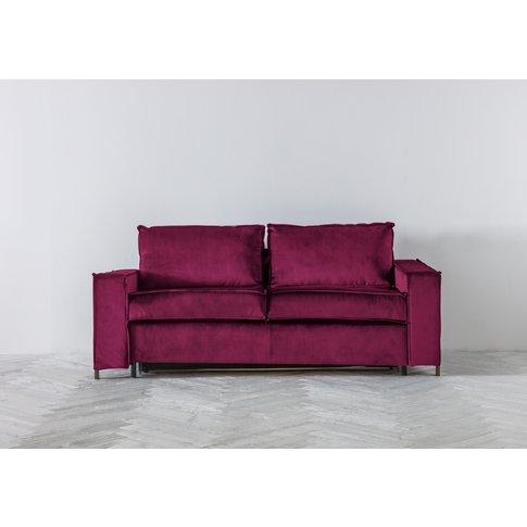 George Three-Seater Sofa Bed In Fresh Azalea