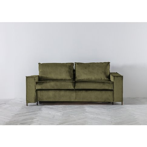 George Three-Seater Sofa Bed In Olive You Too