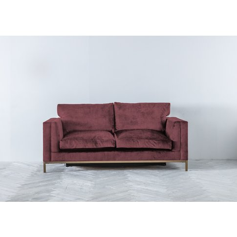 Jamie Three-Seater Sofa Bed In Raspberry Jelly