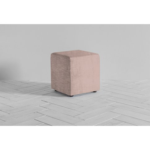 Arnold Footstool In Portrait Pink