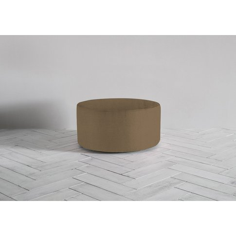 Lucy Footstool In Saddle Brown