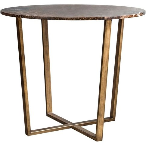 Chloe Emperador Marble Dining Table