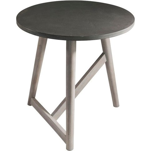 Simon Side Table In Grey
