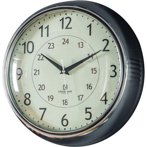 Tate Wall Clock In Chrome