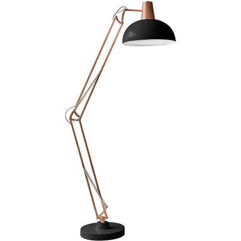 Voltaire Floor Lamp In Bronze & Black