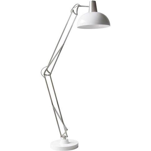 Voltaire Floor Lamp In Nickel & White