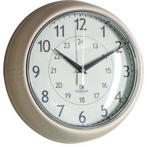 Tate Wall Clock In Barley