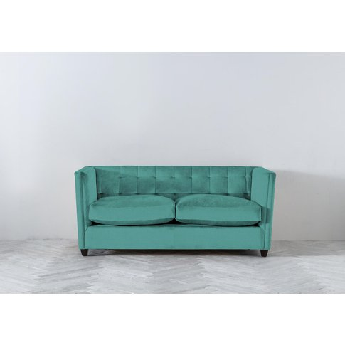Lia Three-Seater Sofa Bed In Turkish Blue