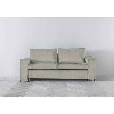 George Three-Seater Sofa Bed In Silver Weave
