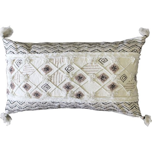 Salma Embroidered Cushion With Tassels