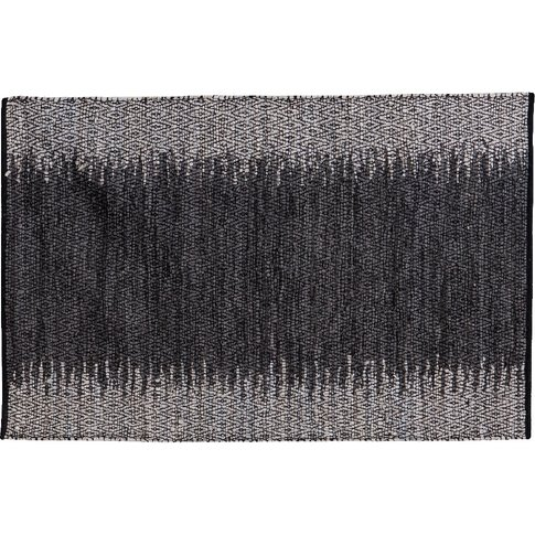 Maria Ombre Leather Rug In Grey