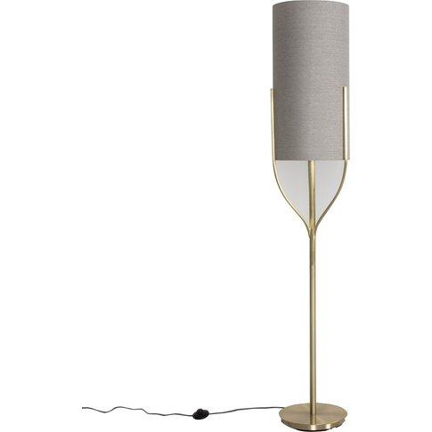 Mona Floor Lamp In Brushed Gold