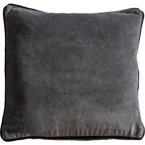 Cameron Cushion In Silver Washed Velvet