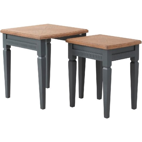 Sienna Nesting Tables In Myrtle Green