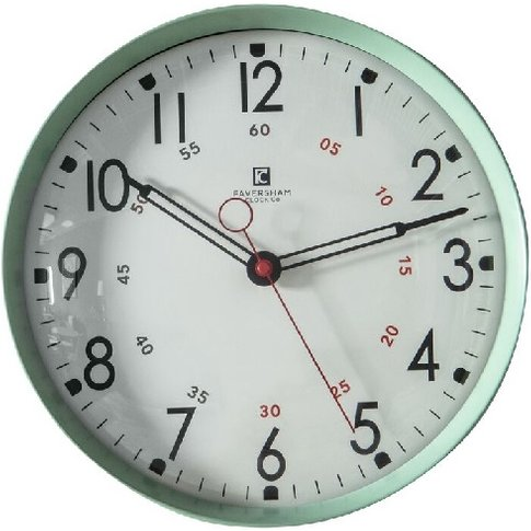 Tate Wall Clock In Mint Green