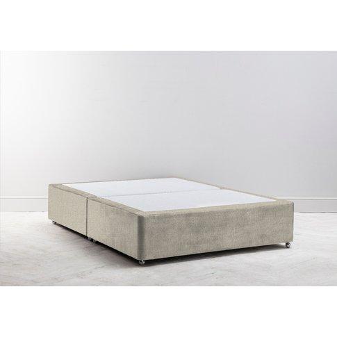 Buxton 5' King Size Bed Base In Bone Grey
