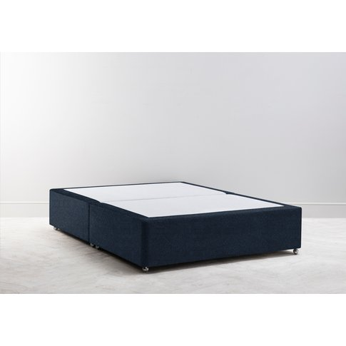 Buxton 5' King Size Bed Base In Deep Blue Yonder