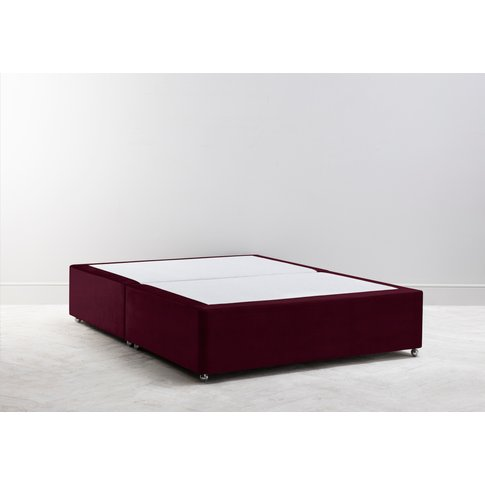 Buxton 5' King Size Bed Base In Deep Merlot