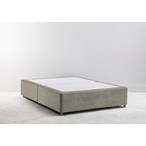 Buxton 5' King Size Bed Base In Diamond Dust