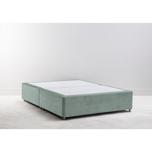 Buxton 5' King Size Bed Base In Mineral Fresh