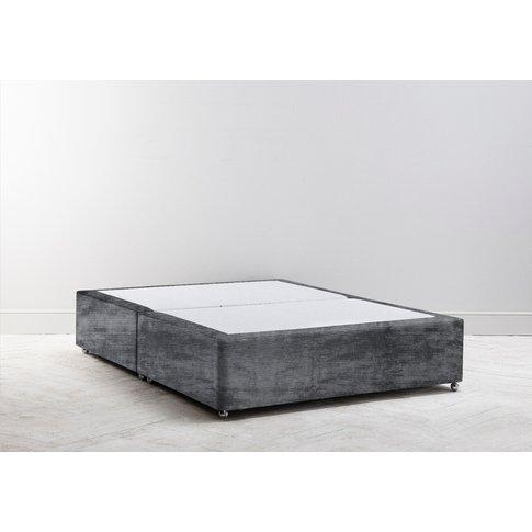 Buxton 5' King Size Bed Base In Rhino Grey