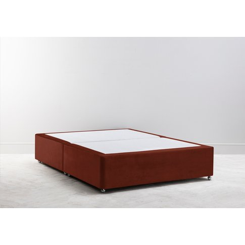 Buxton 6' Super King Size Bed Base In Brick Dust