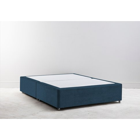 Buxton 6' Super-King Size Bed Base In Oxford Blue