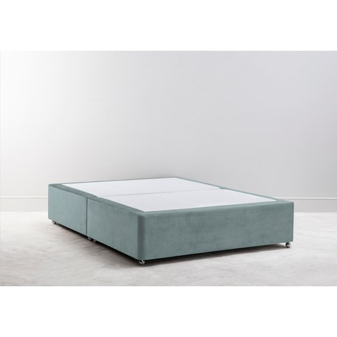 Buxton 6' Super King Size Bed Base In Reykjavik Blue