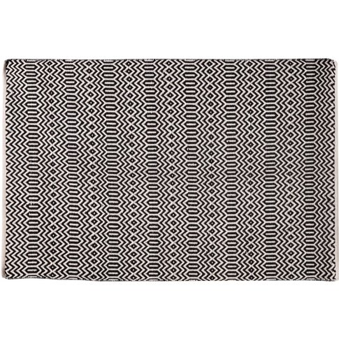 Cleo Wool Mix Rug In Monochrome, Large