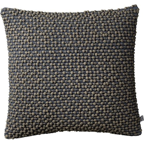 Pixie Pom Pom Textured Cushion In Grey