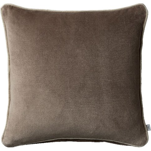 Cameron Cushion In Taupe Washed Velvet
