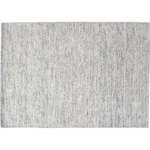January Handwoven Wool Rug In Silver