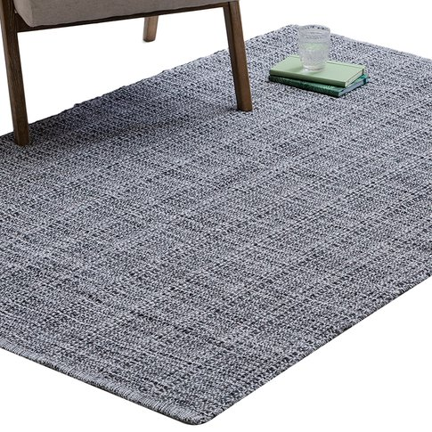 Enzo Hand-Woven Rug In Black & White