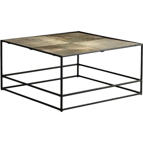 Rubin Coffee Table In Antique Gold
