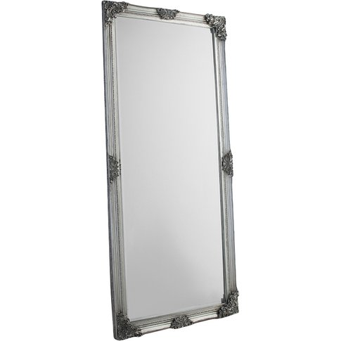 Jeffrey Standing Mirror In Silver