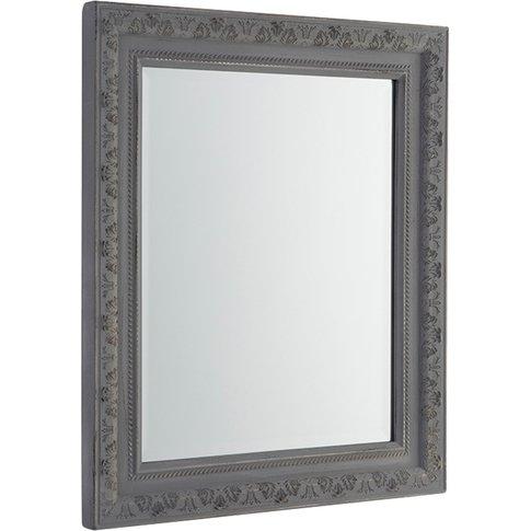 Reid Wall Mirror In Distressed Grey