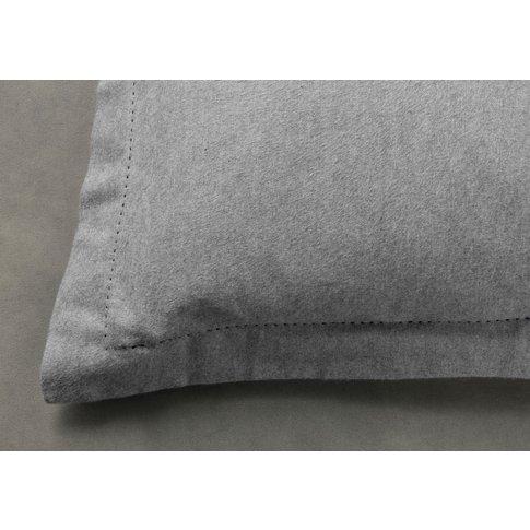 Hayden Grey Oxford Pillowcase, Pair
