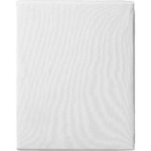 """Meadow White Fitted Sheet, 4'6 Double"""""""