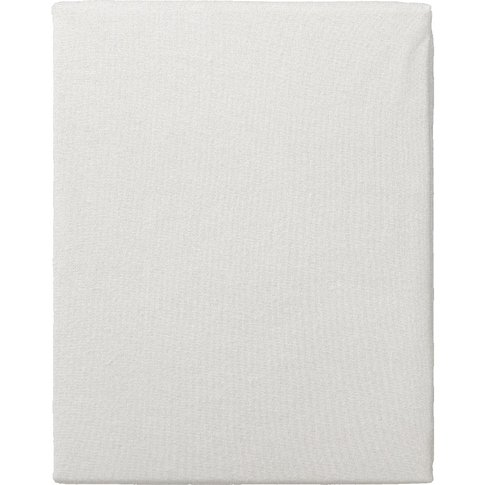 """Lena White Fitted Sheet, 4'6 Double"""""""