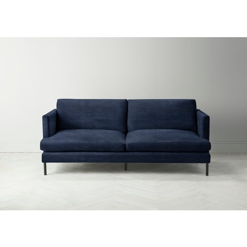 Justin Three-Seater Sofabed In Blue Lavender