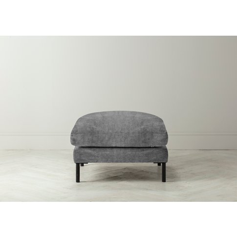Justin Footstool In Cloudy Grey