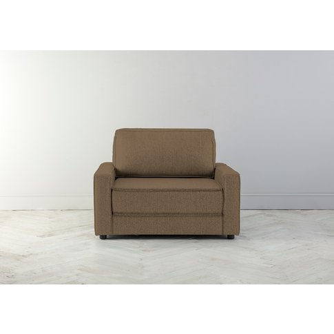 Dacre Single Sofabed In Saddle Brown