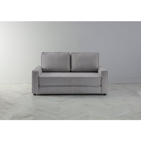 Dacre Three-Seater Sofabed In Silver Weave