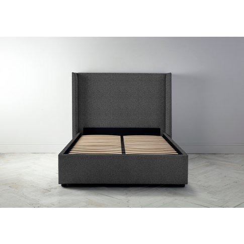 """Suzie 4'6 Double Bed Frame In Crow Black"""""""