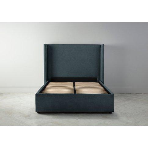 "Suzie 4'6 Double Bed Frame In Denim Blue"""