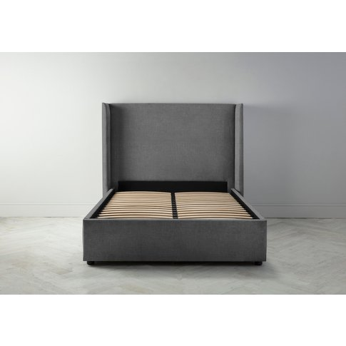 """Suzie 4'6 Double Bed Frame In Eggshell Grey"""""""
