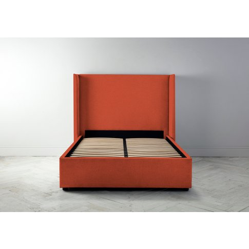 Suzie 4'6 Double Bed Frame In Marmalade Orange""