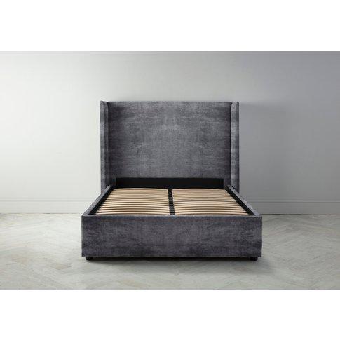 "Suzie 4'6 Double Bed Frame In Rhino Grey"""