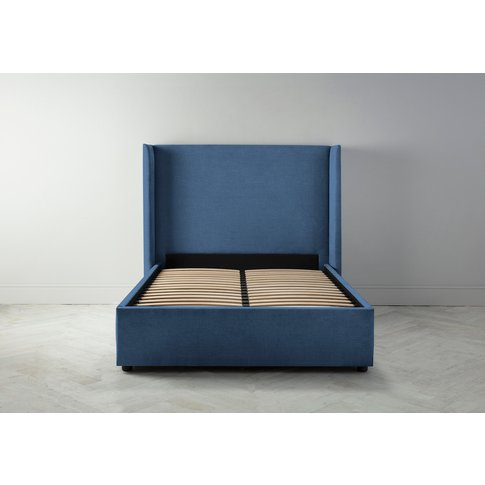 Suzie 5' King Bed Frame In Oxford Blue