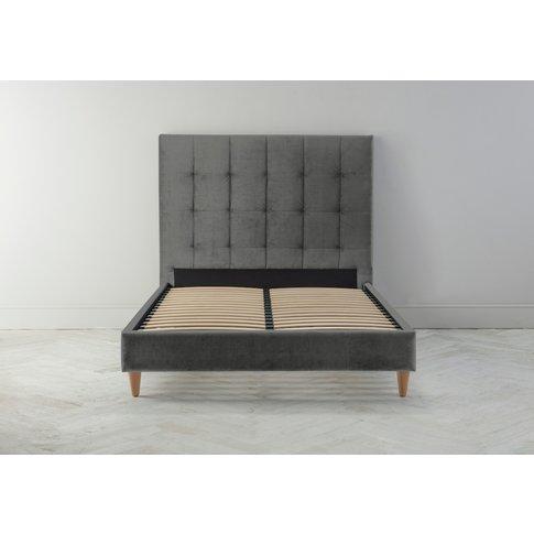 "Hopper 4'6 Double Bed Frame In Dusky Grey"""